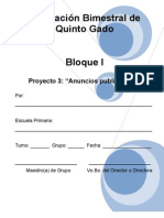 5to Grado - Bloque I- Proyecto 3