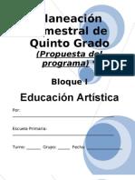 5to Grado - Bloque I - eduación artística