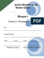 6to Grado - Bloque I - Proyecto 3