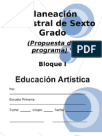 6to Grado - Bloque I - Educacion Artistica