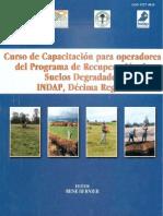 Curso de capacitacion para operadores recuperacion de suelos degradados