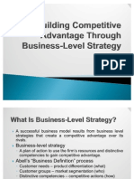 Building Competitive Advantage Through Business-Level Strategy