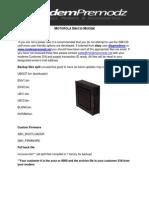 SB6210 SBH Alpha 1.1 Premod Guide