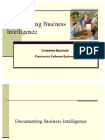 Documenting Business Intelligence Chiradeep 101221051011 Phpapp02