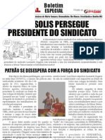 Patrões agridem presidente do Sindmetal