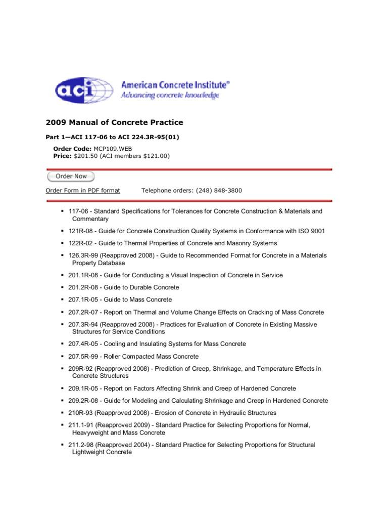 aci 2009 manual of concrete practice fibre reinforced plastic rh scribd com aci 546r-04 concrete repair guide