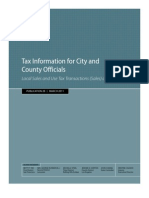 California Tax Information For City And County Officials