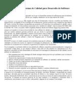 Los Est and Ares de Calidad ISO Para Desarrollo de Software