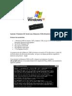 Como Se Insatala XP Desde USB
