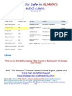 Home for Sale in ALIANA Richmond TX -August 17th 2011