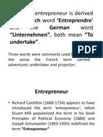 Basics of Entrepreneurship