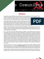 Correo Comunista [Boletín Interno del MCM, N. 2, Agosto del 2011]