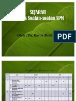 SEJARAH Analisis Soalan SPM 2011