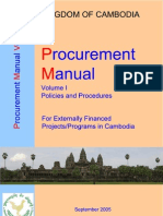 Manual on Procurement Volume I Main Text