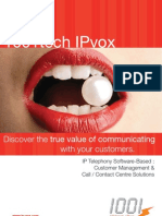 1001tech IPvox Call / Contact Centre Solutions Overview