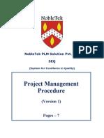 PSP001 - Project Management Procedure