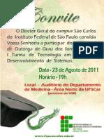 Convite Outorga Grau Saocarlos