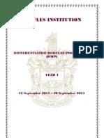 Raffles Institution Differentiated Modules Programme 2011 Handbook