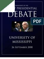 Presidential Debate Transcript