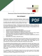Tax Alert Russia Luxembourg tax Treaty Progress