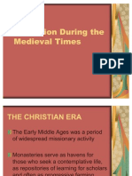 Education During the Medieval Times