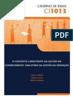 CI1013 Gestão do conhecimento e inovação