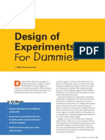 Design of Experiments for Dummies