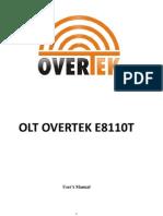 Manual OLT OverTek E8110T