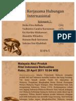 Bentuk Kerjasama Hubungan Internasional