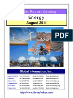 Energy Market Report Catalogue August 2011