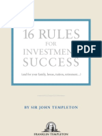 16 Rules for Investing - Sir John Templeton