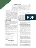 Decreto Legislativo 1062 INOCUIDAD ALIMENTOS