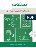 RainBird 2011 Master Numerical Parts Price List
