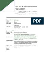 UT Dallas Syllabus for engr3300.003.11f taught by Gerald Burnham (burnham)