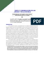 Conocimiento y Comunicación en las Ciencias y en la Escuela-