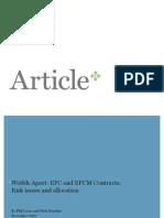 Contratos EPC y EPCM