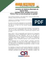 Plan de Gobierno Oficial Mario Restrepo Perez - Alcalde 2012-2015