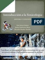 1. Induccion e Historia de La Toxicologia