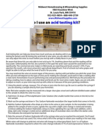 How do I use an acid testing kit?