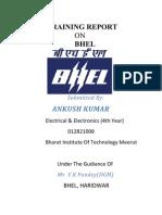 Training Report by Ankush Chaudhary