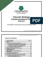 Communications Plan Cedar Rapids