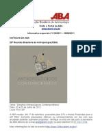 Informativo ABA nº 018/2011 – 18/08/2011