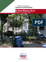 2008 Residential Waste Sort