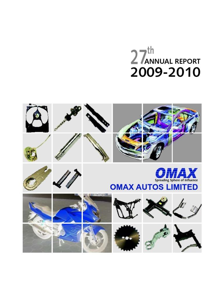 Omax Annual Reprt   Economic Growth   Board Of Directors