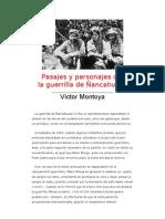 Pasajes y personajes de la guerrilla de Ñancahuazú