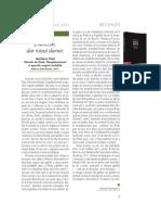 Alexander Baumgarten - Review of Marilena Vlad, Dincolo de ființă. Neoplatonismul și aporiile originii inefabile (Zeta Books, 2011), in