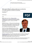 Obama Birth Certificate Doc Assembled on Computer per Karl Denninger - Web Software Expert