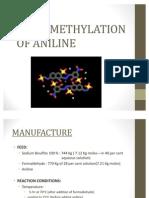 Sulfomethylation of Aniline