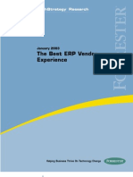 2003.01 - The Best ERP Vendor Experience Forrester