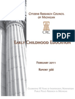 Citizens Research Council of Michigan - Early Childhood Education Feb. 2011